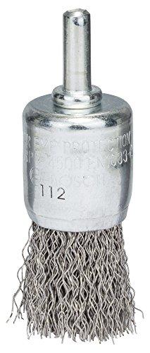 BOSCH Pinselbürste, Edelstahl, gewellter Draht, 0,3 mm, 25 mm, 4500 U/ min, 2608622127