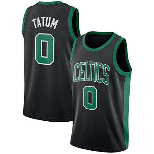 Men's Basketball Jersey 0# Celtics Tatum, City Edition New Season Jersey Comfortable and Breathable Mesh Fabric Training Vest White S-XXL Black-S