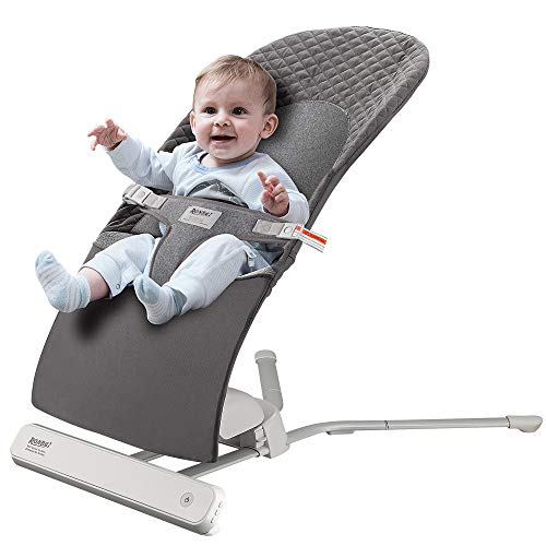Baby Swing,RONBEI Baby Swing and Bouncer,Portable Swing,Automatic Swing Bouncer for Baby/Infants,2 Speed Vibration (Brown)