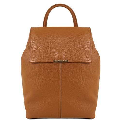 Tuscany Leather TL141706 Leren rugzak voor dames van zacht leer, cognac (meerkleurig) - TL141706