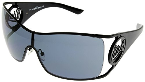 John Richmond Sunglasses Womens JR 63101 Black Metal Sheild
