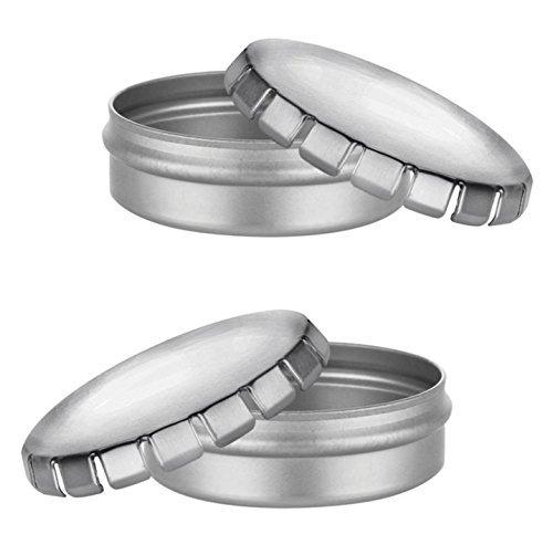 MagnaKoys 2oz Shallow Round Steel Tin Can w//Slip on Window Cover Tops 4 MagnaKoys® 3212W2-4