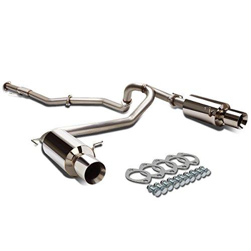 DNA Motoring CBE-HT07V6-NRT Catback Exhaust System [for 07-08 Tiburon 2.7L V6]