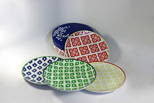 Paperproducts Design 30002 Belize Salad/Dessert Plate Set Of 4, 8.25', Multicolor