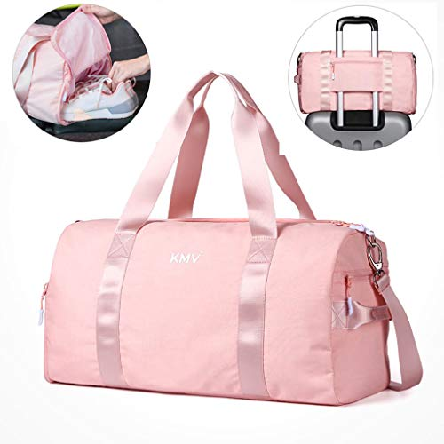 Gym Bag Sports Duffel for Women with Shoe Compartment and Wet&Dry...
