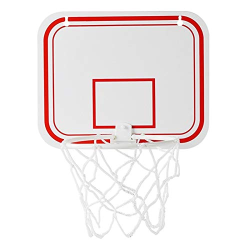 Fuxwlgs Basketballkorb Hot Sport Büro Basketballkorb Clip for Papierkorb Basketball-Spiel Kleinen Basketball Brett Clip for Papierkorb (Color : White)