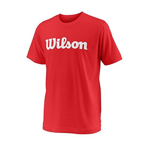 Wilson, Y Team Script Tech Tee, Camiseta deportiva manga corta unisex para...