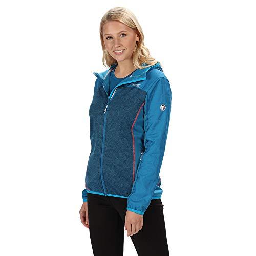 Regatta Damen Womens Haska Hybrid Water Repellent Wind Resistant Long Length Softshell Jacket, Petrol blau/Petrol, 40