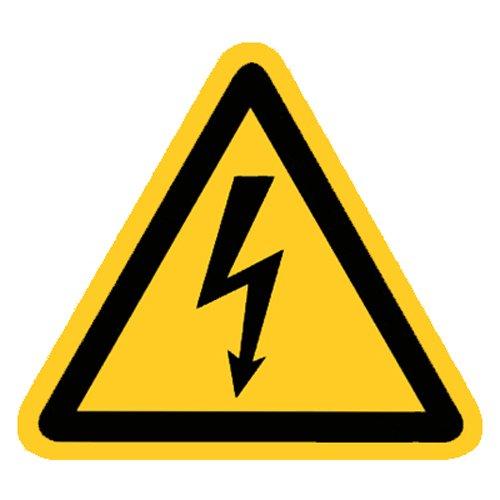 Warnung vor gefährlicher elektrischer Spannung Folie selbstklebend 200 mm