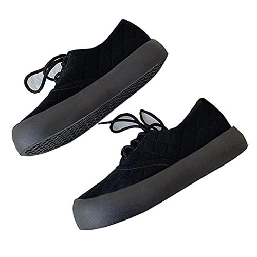 スニーカー レディース おしゃれ 靴 厚底 ダッドスニーカー 厚底スニーカー 韓国 ダッドシューズ キルティング ブラックスエード 24.5cm
