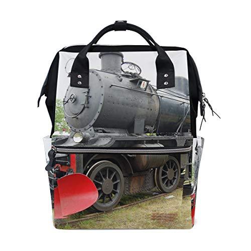 Oude Trein Stoom Locomotief Luier Rugzak Tassen Gepersonaliseerde Rugzak voor Moeder Meisje Vrouwen School Reizen Wandeltas Laptop Baby Tas