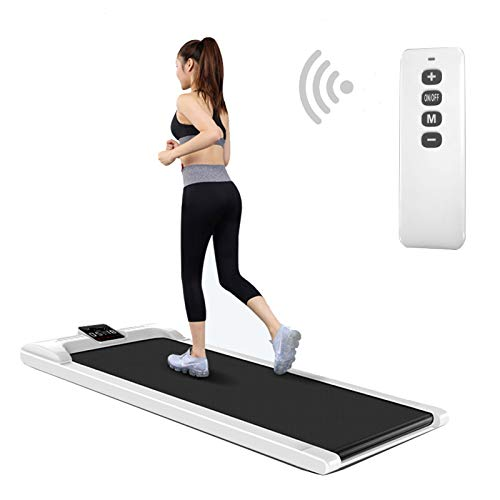 Soiiw Walking Pad Treadmill Digital Electric Under Desk Smart Slim Fitness Jogging Training Cardio Workout with LED Display & Wireless Remote Control for Home Office
