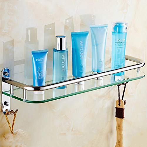 LYJ-handdoek badkamer glas rechthoekige plank muur gemonteerd gehard glas extra dik, heldere sectie