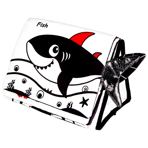 sharprepublic Montessori Baby Cloth Book My First Book Educational Cognition Early Learning Activity Book Toy for Toddlers Baby Boys and Girls Infant 0-3 Year Olds - Ocean World