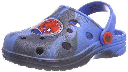 Spiderman Boys Kids Clog Sandals and Mules, Sabots Garçon Fille, Bleu Marine C, 26 EU