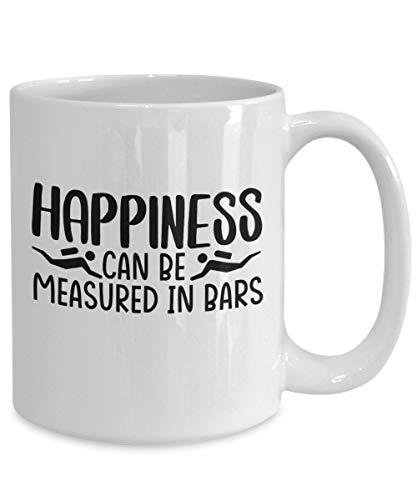 DKISEE Taza de café con regalos de buceo, regalo de buceo, felicidad se puede medir en bares, idea de cumpleaños para hombres y mujeres, 325 ml