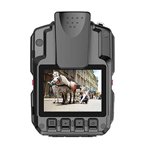 Body Worn Camera 1296P HD Police CMOS 145 ° Gran Angular Visión Nocturna 2.0 '' Pantalla de detección de Movimiento, grabación en Bucle, posicionamiento láser IP68 a Prueba de Agua,32G