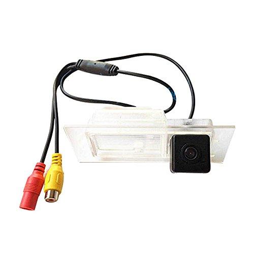 Dynavsal HD CCD Caméra de Recul Voiture en Couleur Kit Caméra vue arrière de voiture Imperméable IP67 avec large Vision Nocturne pour 2015-2016 Jeep Renegade