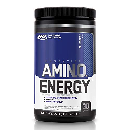 Optimum Nutrition Amino Energy Pre Workout Powder Keto Friendly with Beta Alanine, Caffeine, Amino Acids and Vitamin C, Blueberry, 30 Servings, 270 g