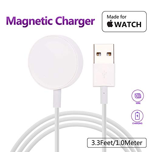 MASOMRUN Charger para Apple Watch,Cargador Magnética para iWatch Cargador Magnética para el Apple Watch Series 4/3/2/1,38mm,40mm,42mm,44mm(1M)
