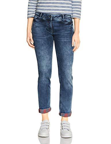 Cecil Damen 372920 Jeans, mid Blue wash, W33/L30
