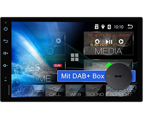 "Tristan Auron BT2D7018A Android 10 Autoradio mit Navi + DAB Plus Box I 7\"" Touchscreen GPS Bluetooth Freisprecheinrichtung I 32GB USB SD 2 DIN"
