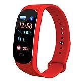 Orologio LED IP67 impermeabile multifunzionale ossigeno nel sangue/pressione braccialetto fitness...
