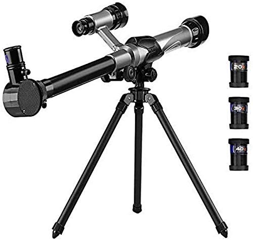 OKMIJN Telescopio Astronómico con Trípode Refractor Monocular Scope, Kids Telescope Outdoor Playhouse Telescope Science Toy para Niños Niños