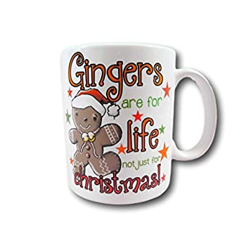 Personalised Gingers Are For Life Christmas Mug - add any text