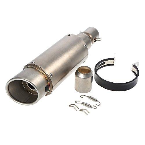 KKmoon 38-51mm Terminali di Scarico Silenziatore Marmitta Exhaust per Moto, Colore Gelo Coda Obliqua Rimontare del Silenziatore di Scarico per Moto ATV Universale