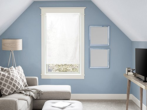 Tendina a vetro in cotone 60x120 cm PANAMA Bianco