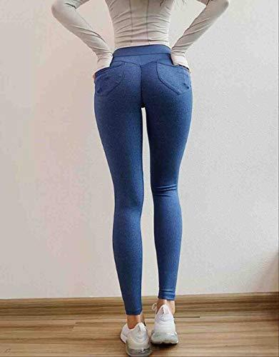ZIJS Yoga Pants Leggings Yoga High Waist Sport Leggings Push Up Pants Running Women Scrunch Butt Leggings Jogging Pants for Women Yoga Pants M Blue,Blue,M