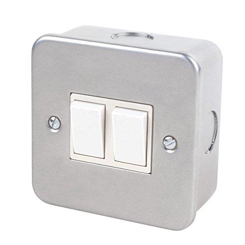 Interruptor de 2 vías, revestimiento metálico