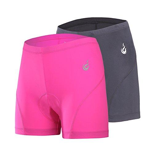 beroy Women Quick Dry Cycling Underwear with 3D Padded,Gel Bike Underwear and Bike Shorts(red+Black XXXL)