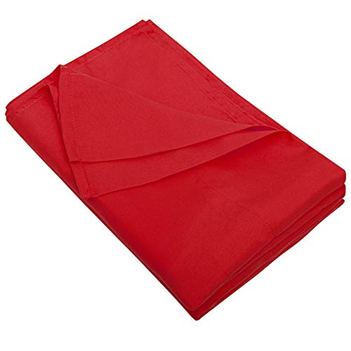FLXXIE Twin Size Flat Bedding Sheet, Ultra Soft Microfiber Bed Flat Sheet, Classic and Durable, Wrinkle, Fade, Stain Resistant, Red