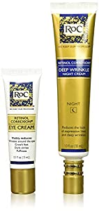 Roc Retinol Value Set Duo, Deep Wrinkle Night Face Cream & Retinol Correxion Eye Cream (Packaging May Vary)