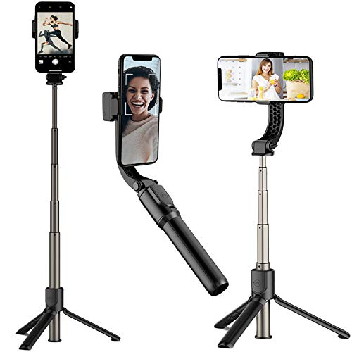 Gimbal Stabilizer for Smartphone, BTMAGIC Selfie Stick Tripod with Remote Mobile Phone Stand for iPhone 12 Pro Max/11/XS Max/XS/XR/X/8/7/6, Samsung Galaxy S10/S9 Note, Android