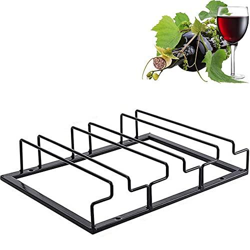 1Pcs Porta Bicchiere di Vino,Rack Per Calici,Portabottiglie,Porta Bicchieri Da Vino In Metallo,Porta Bicchiere di Vino Appeso,Porta Bicchieri Da Vino Nero,Porta Bicchieri Da Vino In Ferro,Tre Slot.