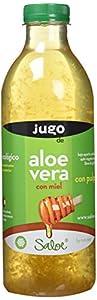 Saloe NATURAE Jugo Aloe Vera y Miel Ecológico - 3 Recipientes de 1000 ml - Total: 3000 ml