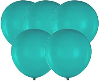 ZOOYOO 18 inch Turquoise Teal Big Balloons Quality Turquoise Teal Latex Balloons Party Decorations Pack of 25