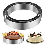 Anelli per torte,VVEMERK 3 Pezzi acciaio inossidabile Stampo Circolare per DIY Mousse Torte, dolci 20/15/10 cm di Diametro