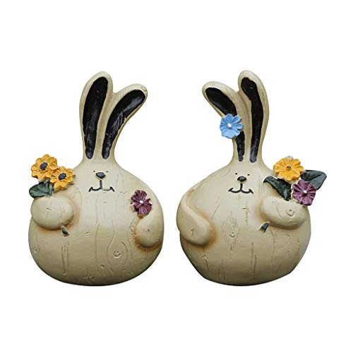 XZJJZ Sculpture decoration-Resin Decorative Ornaments,Whimsical Rabbit Statue – Made of Resin