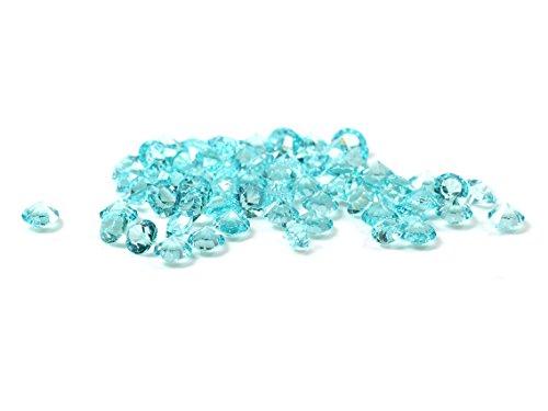 Glasmedaillon Einleger Diamant in himmelblau 300 Stück von Vintageparts DIY Schmuck Glasmedaillon floating charm
