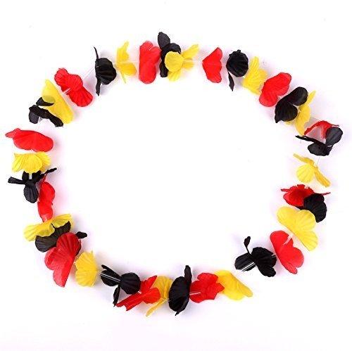 Schramm® 10er Pack Blumenkette Deutschland Blumenketten Hawaiikette Hawaiiketten Hawaii Kette Blume Blumen Halskette Halsketten Deko