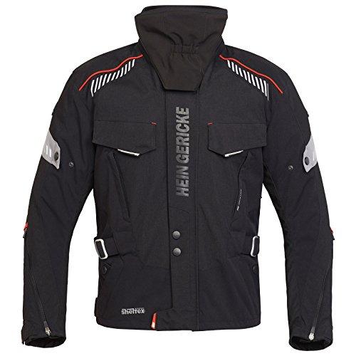 Hein Gericke Bormio sheltex® Jacke schwarz/grau 58 - Motorradjacke