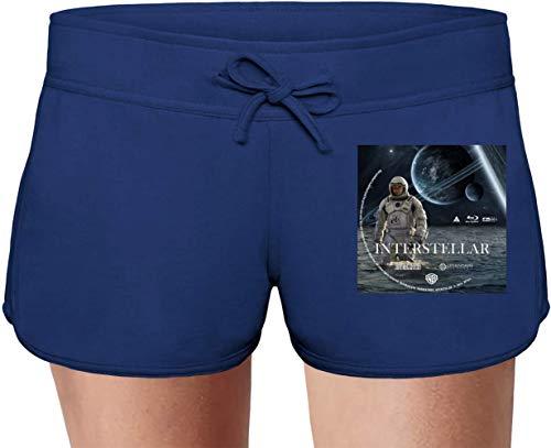 Movie Stars Merchandise Interstellar Summer Sweat Shorts For Women & Ladies | 80% Cotton-20% Polyester Fashion Unique & Custom Briefs, Bermudas, Underpants, Slacks & Sports Clothing by Large