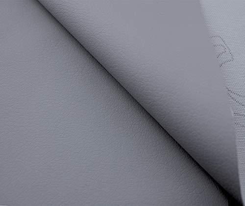 Tukan-tex Kunstleder Möbel Textil Meterware Polster Stoff PU Soft (Grau)