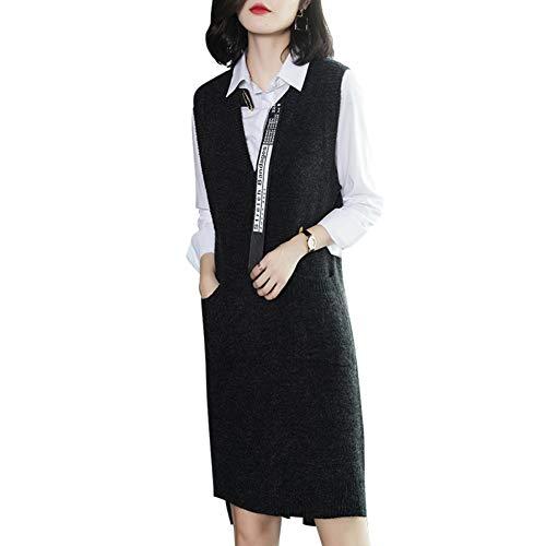 BINGQZ Cocktail Jurken Winter rok tweedelige lange vest rok + shirt herfst en winter vrouwen temperament pak rok