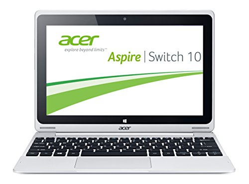 Acer Aspire Switch 10 SW5-011 25,7 cm (10,1 Zoll) Convertible Laptop (Intel Atom Z3745, 1,3GHz, 2GB RAM, 32GB eMMC + 500 GB HDD, Intel HD Grafik, Win 8.1) grau