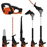 Black + Decker BCASK8967D2GB Seasonmaster Cordless Multi-Tool with Hedge Trimmer, Strimmer, Chainsaw...